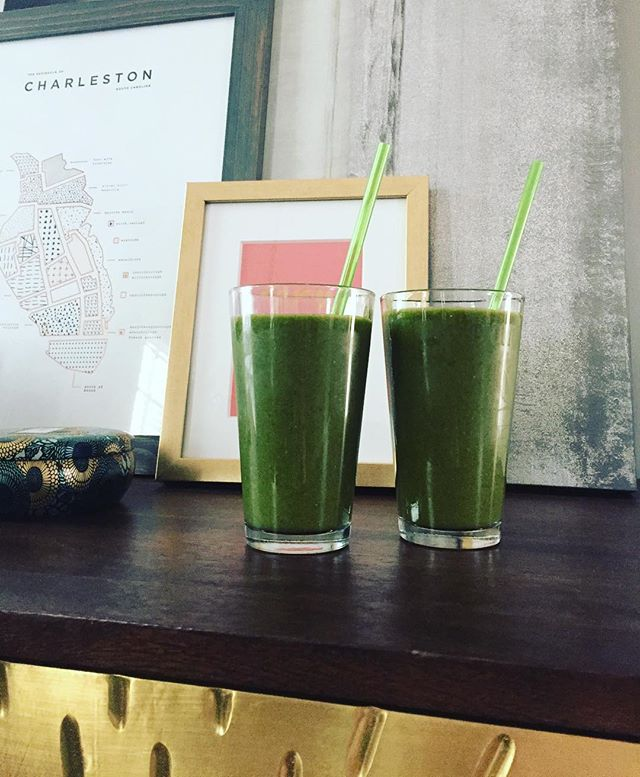 going green! #greensmoothies #stpattysday