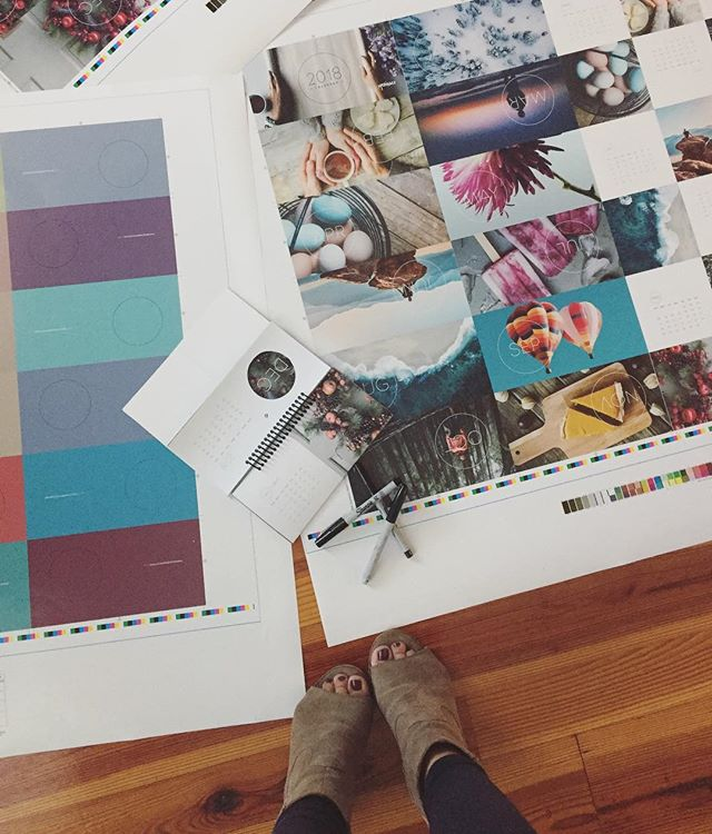 holiday calendar proofs!!! 🏼 #designerlife