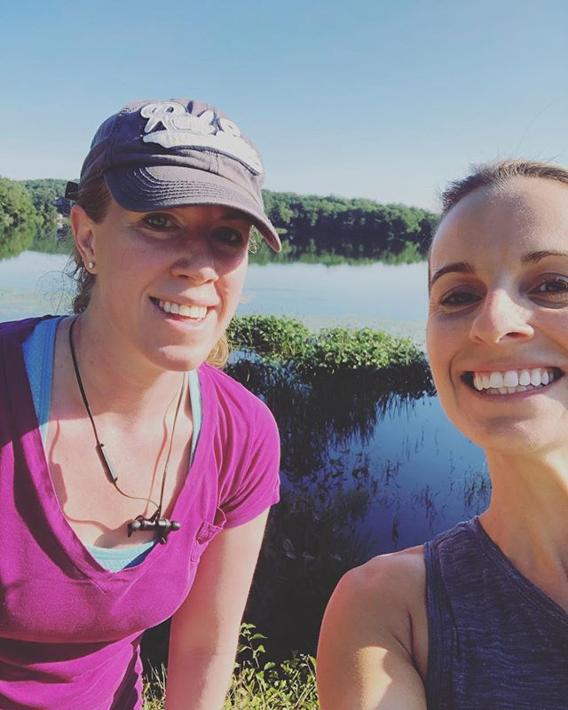 morning cranberry bog run with my sister in law