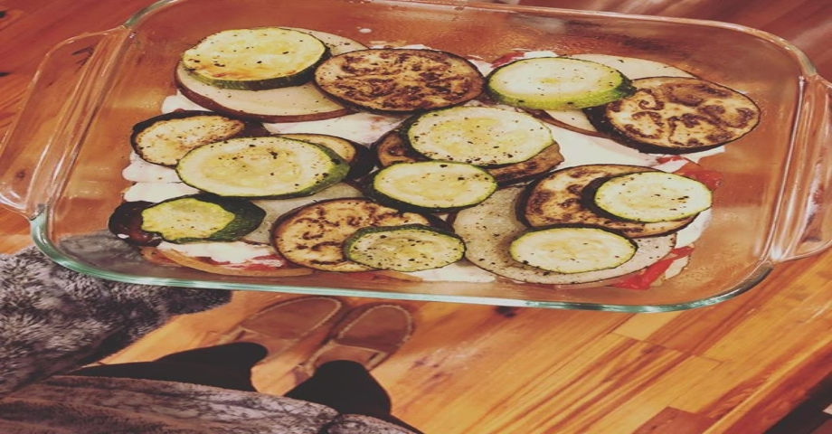 cooking for just one this week … greek style eggplant moussaka #thanksplated