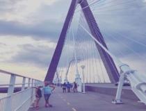 we caught sunset on the bridge last evening #twomilebridge