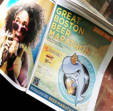 beer marathon event signage & web