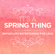 homegoods spring email, direct mail and signage